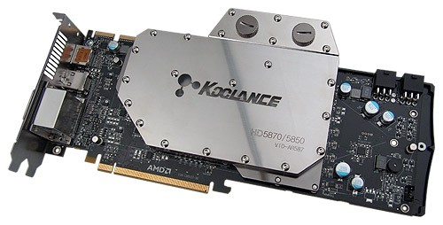 Koolance WaterBlock VID-AR587 Radeon HD 5870/5850 ATI graphic cards