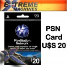 PSN Card Sony Playstation Network Card PS3 PSP GO Extreme Machines